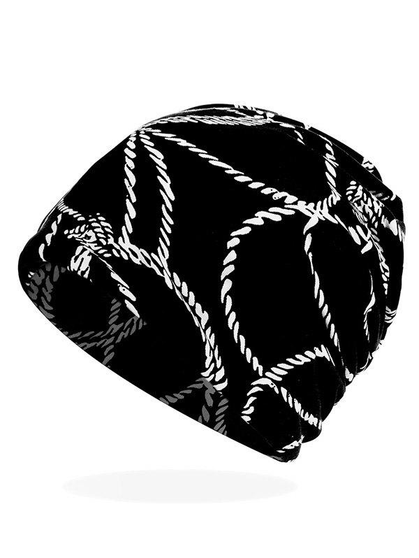 Outfits Rope Print Stretchy Slouchy Beanie