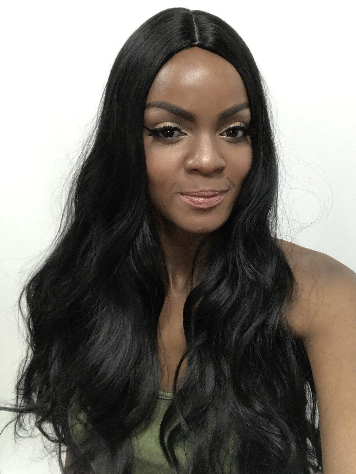 Cheap Center Parting Wavy Party Long Capless Synthetic Wig
