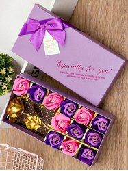 Valentines Day Artificial Rose Flowers In A Box -