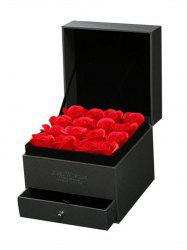 16 Pcs Valentines Day Gift Soap Rose Flowers In A Jewelry Box -