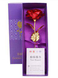 Valentines Day Gift Artificial Plated Rose Flower In A Box -