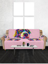 Colorful Dog Pattern Couch Cover -