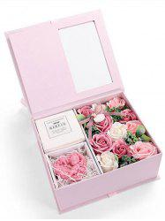 Valentines Day 11 Pcs Soap Rose Flowers and Soap In A Box -