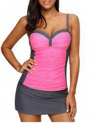 Contrast Color Tankini Sets -