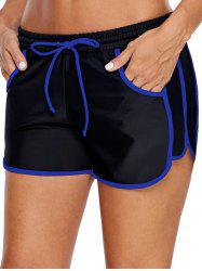 Contrast Color Pockets Swim Bottom -