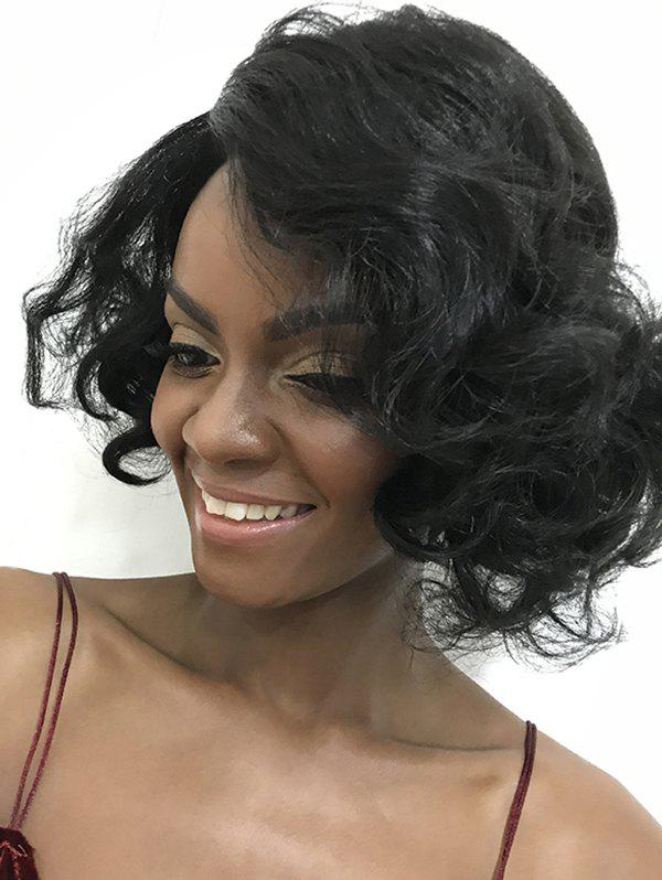 Outfits Inclined Bang Short Wavy Synthetic Wig