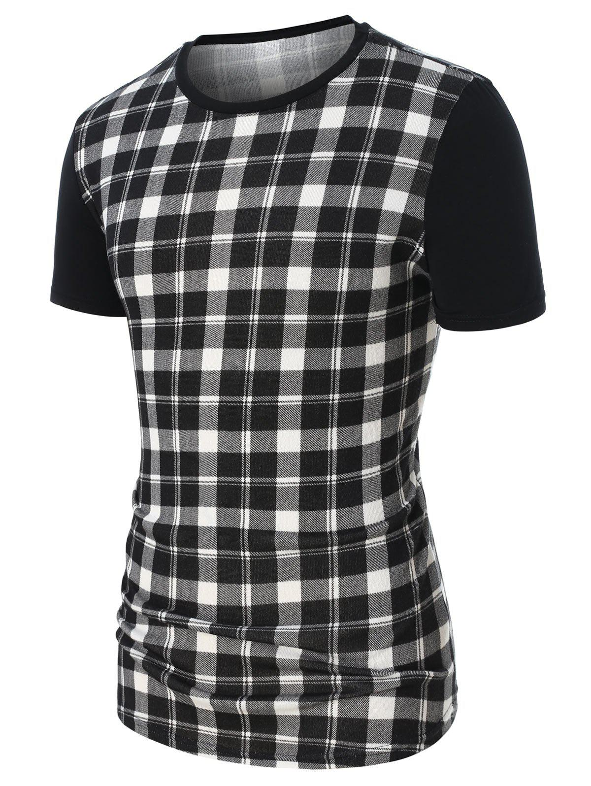 Best Checked Print Short Sleeve Tee