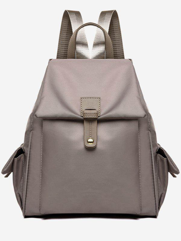Unique Double Pockets Oxford Cloth Nylon Backpack
