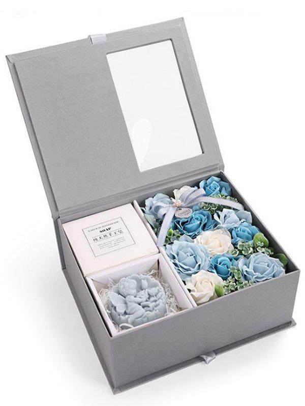 Fancy Valentines Day 11 Pcs Soap Rose Flowers and Soap In A Box