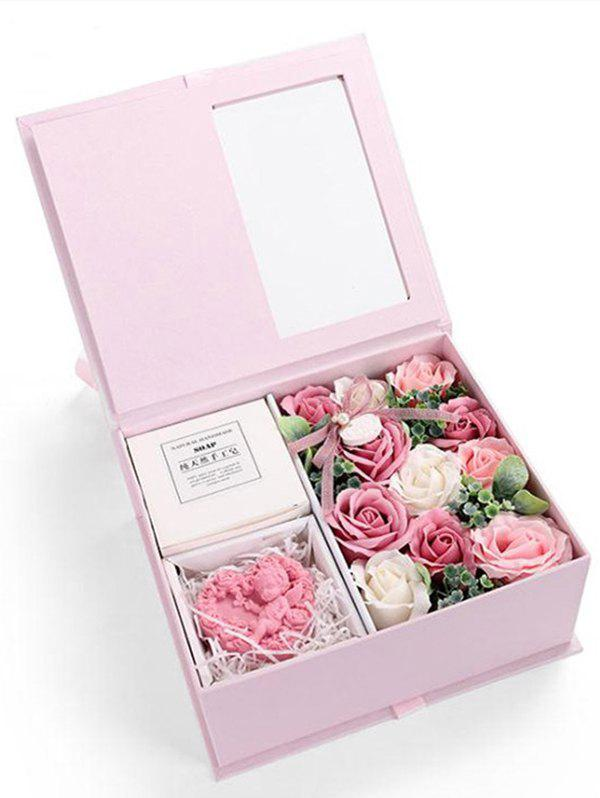 Sale Valentines Day 11 Pcs Soap Rose Flowers and Soap In A Box