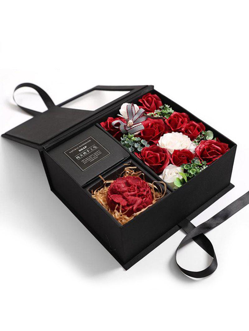 Outfit Valentines Day 11 Pcs Soap Rose Flowers and Soap In A Box