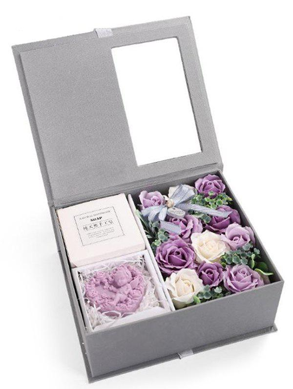 Chic Valentines Day 11 Pcs Soap Rose Flowers and Soap In A Box