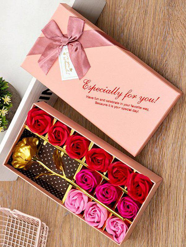 Outfit Valentines Day Artificial Rose Flowers In A Box