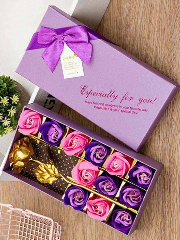 Sale Valentines Day Artificial Rose Flowers In A Box