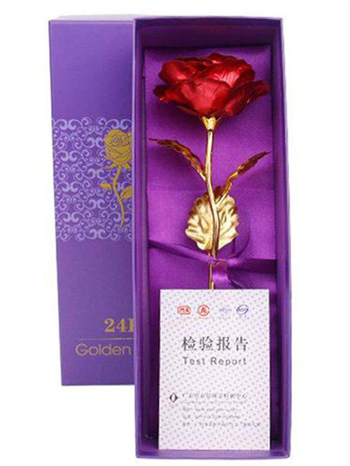 Affordable Valentines Day Gift Artificial Plated Rose Flower In A Box