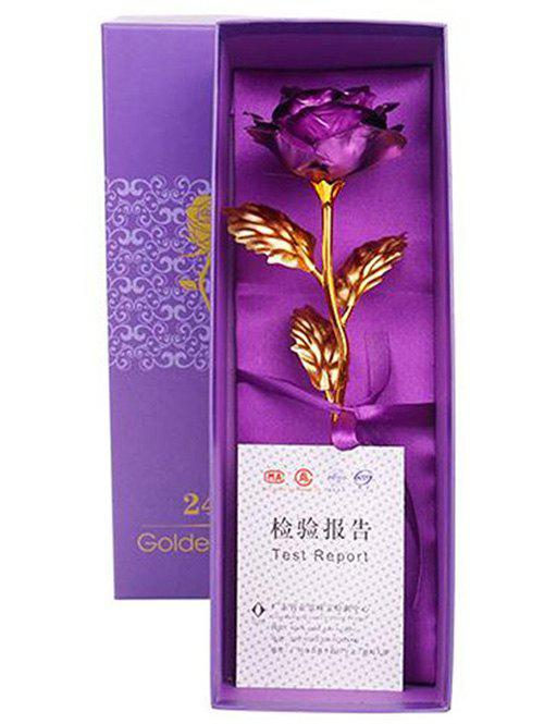 Shop Valentines Day Gift Artificial Plated Rose Flower In A Box