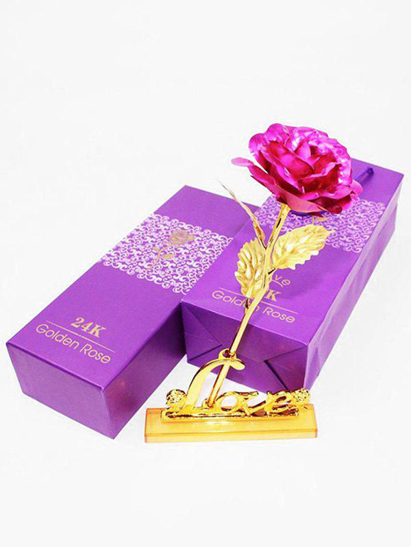 Shop Plated Artificial Rose Flower and Holder In A Box
