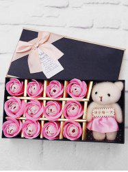 12 Pcs Valentines Day Gift Soap Rose Flowers In A Box -