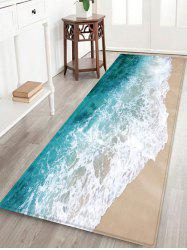 Beach Sea Waves Print Antiskid Area Rug -