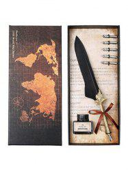 Feather Quill Pen and Ink In A Box -
