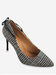 Houndstooth Strange Heel Pumps -