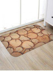 Cross Section of Tree Print Flannel Area Rug -