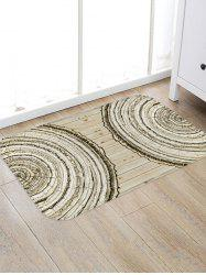 Tree Trunk Ring Print Flannel Area Rug -