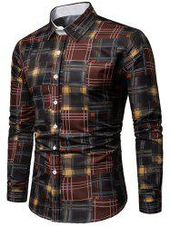 Plaid Print Long Sleeves Shirt -