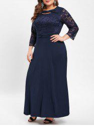 Plus Size Lace Panel Cut Out Maxi Dress -
