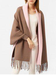 Embroidered Open Front Cape -