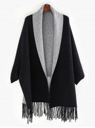 Dolman Sleeve Two Tone Cape -