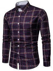 Checked Print Long Sleeves Casual Shirt -