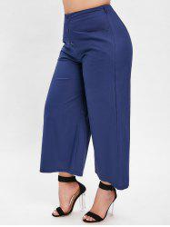 Plus Size Button Embellished Wide Leg Pants -