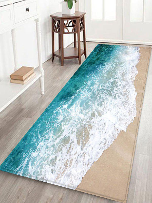 Unique Beach Sea Waves Print Antiskid Area Rug