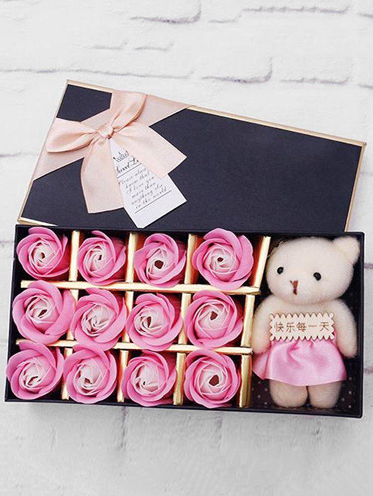 Shops 12 Pcs Valentines Day Gift Soap Rose Flowers In A Box