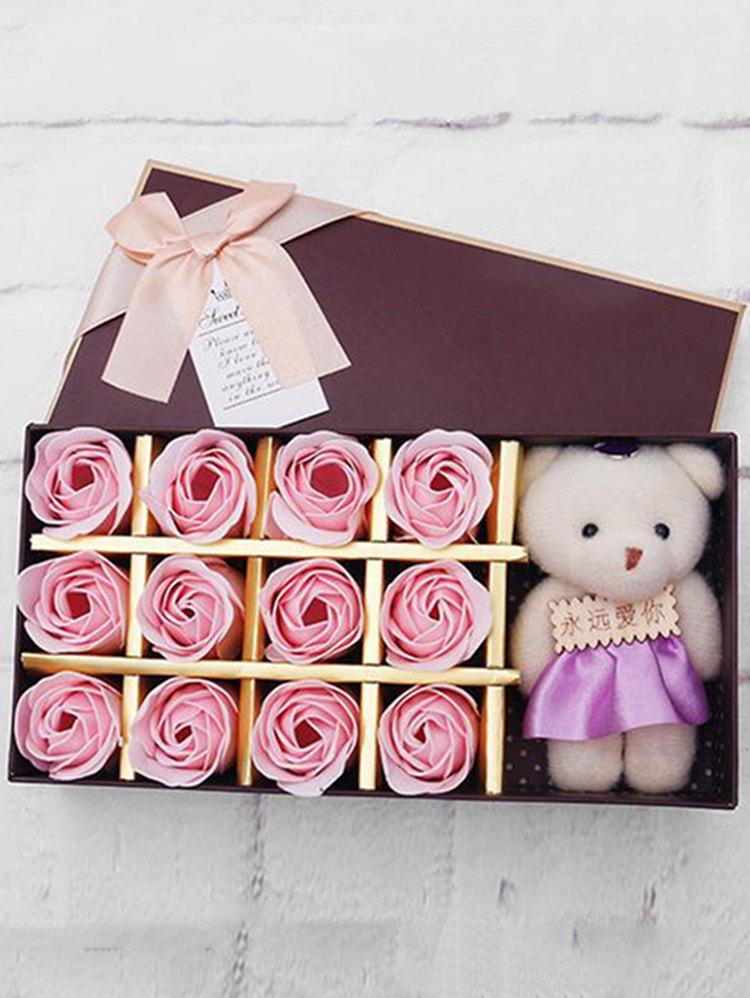 Sale 12 Pcs Valentines Day Gift Soap Rose Flowers In A Box