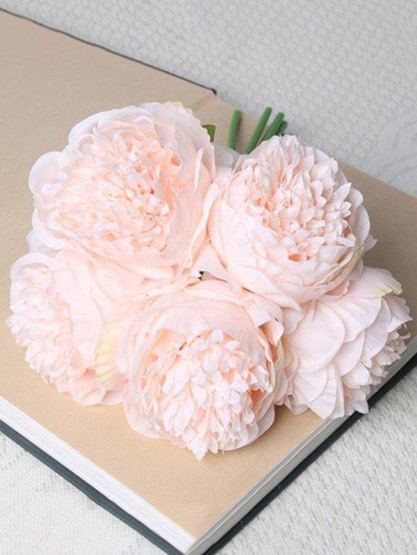 Affordable 5 Pcs Home Decoration Artificial Peony Flowers