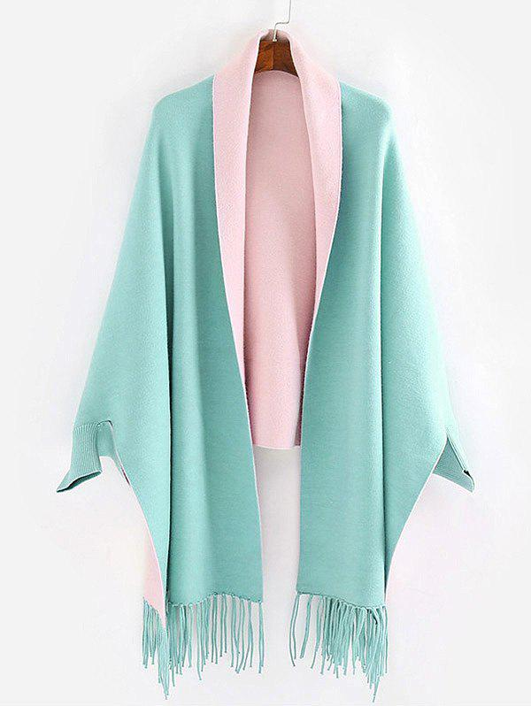 Discount Dolman Sleeve Two Tone Cape