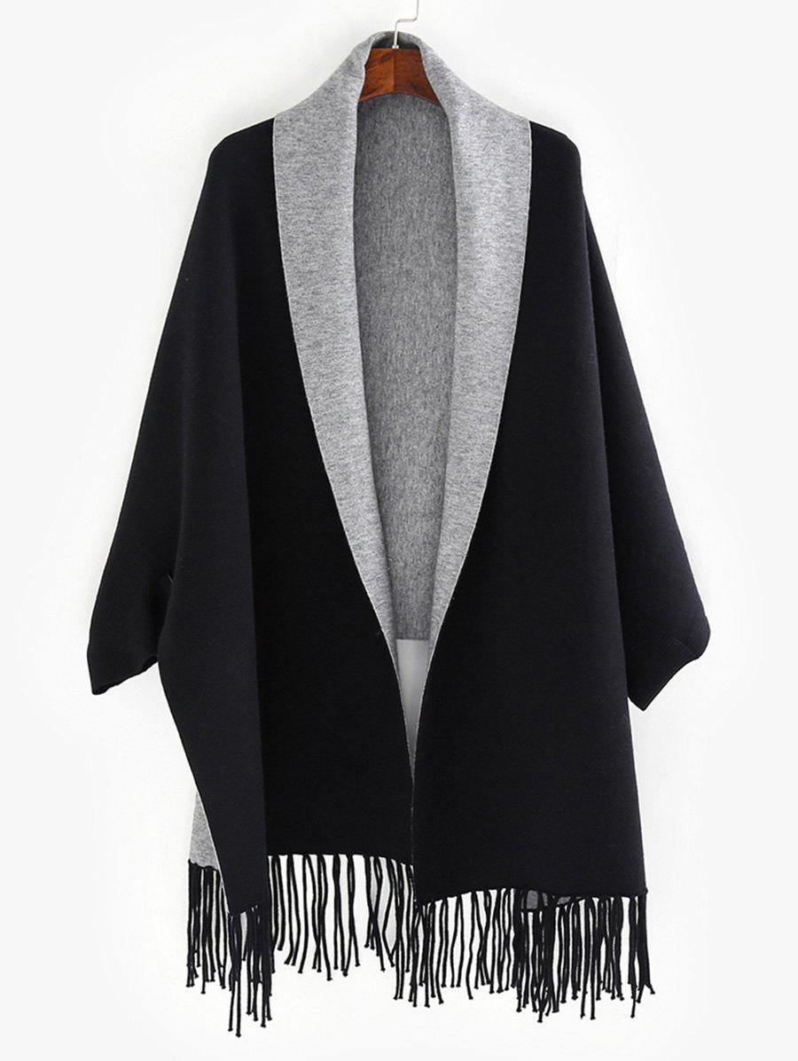 Sale Dolman Sleeve Two Tone Cape