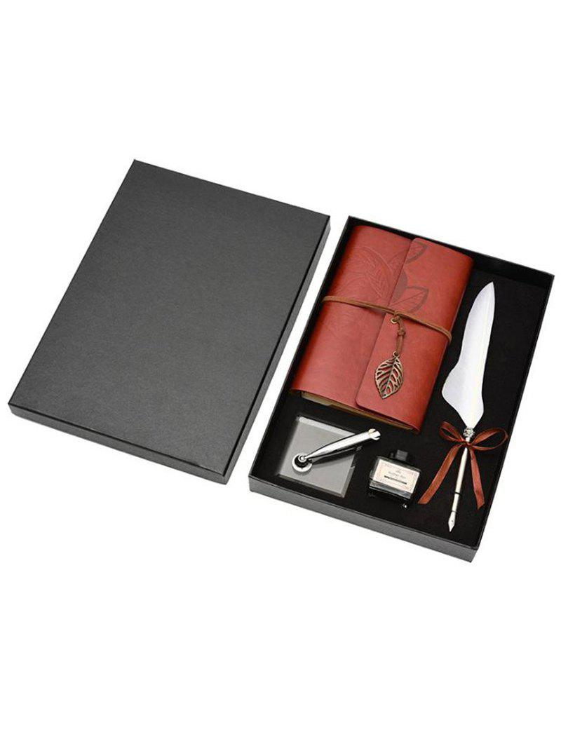 Hot Feather Quill Pen Notebook and Ink In A Box