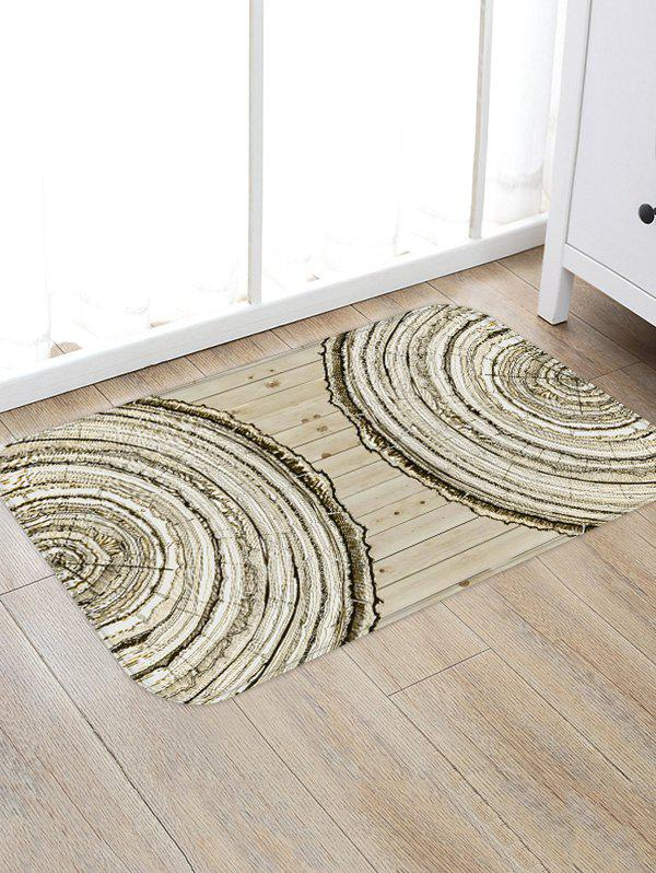 Fashion Tree Trunk Ring Print Flannel Area Rug