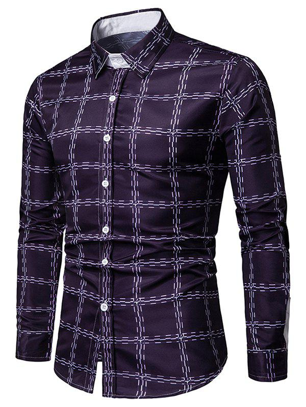 Outfits Checked Print Long Sleeves Casual Shirt