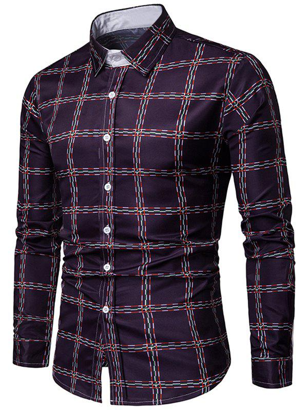Unique Checked Print Long Sleeves Casual Shirt