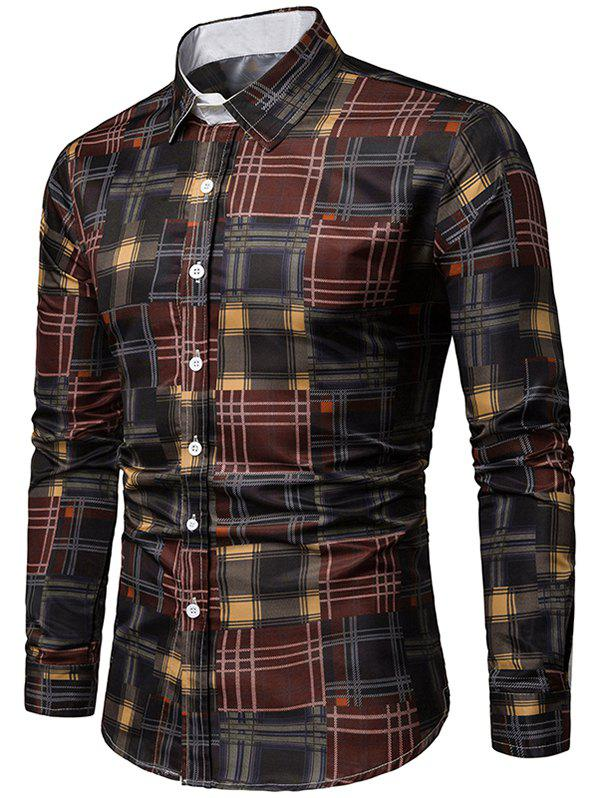 Chic Plaid Print Long Sleeves Shirt