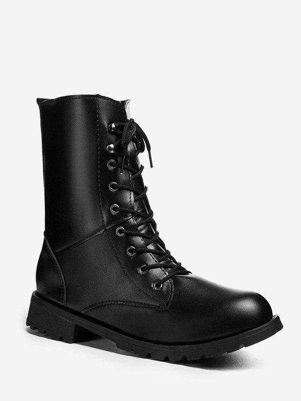 Buy Lace Up Low Heel PU Boots