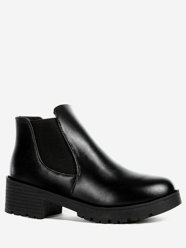 New PU Chunky Heel Ankle Boots
