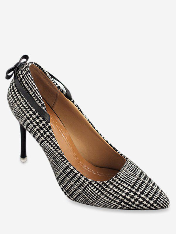 Fancy Houndstooth Strange Heel Pumps