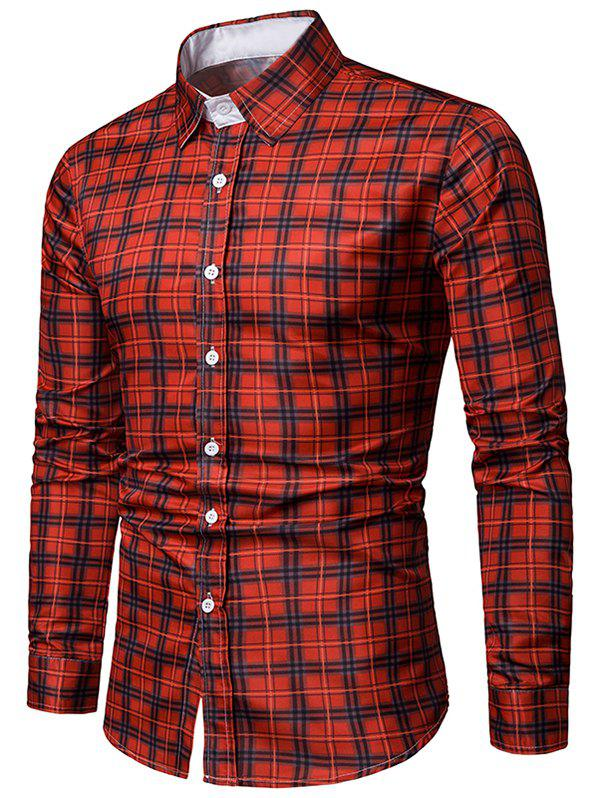 Outfits Long Sleeves Casual Plaid Printed Shirt