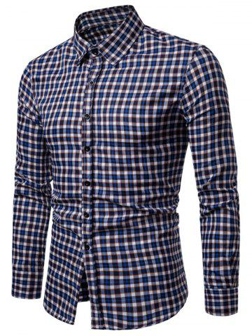 Plaid Print Casual Button Up Long Sleeve Shirt