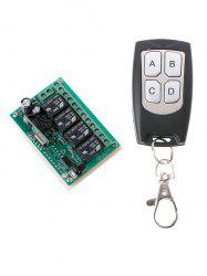 DC 12V 4 Channel Universal Wireless Remote Switch Control and Relay Receiver Module -